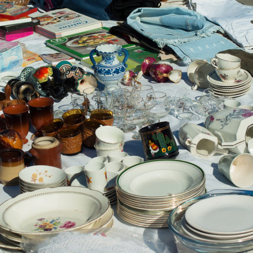 Flea market, antiques and garage sale