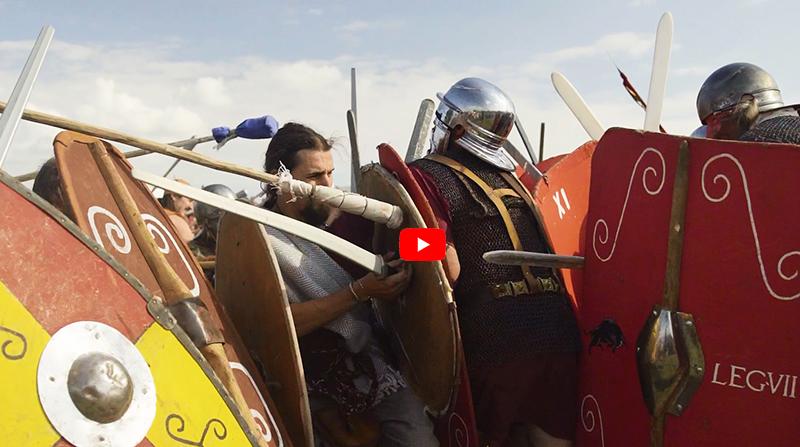 Scène de combat des Arverniales - CANOPEE©