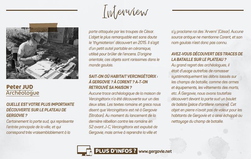 Interview de Peter JUD - Archéologue