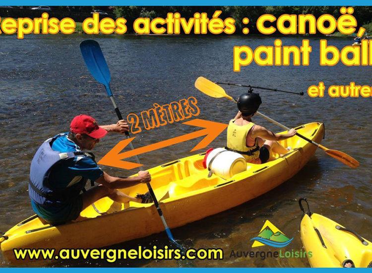 Descente en canoë sur l'Allier - Auvergne Loisirs