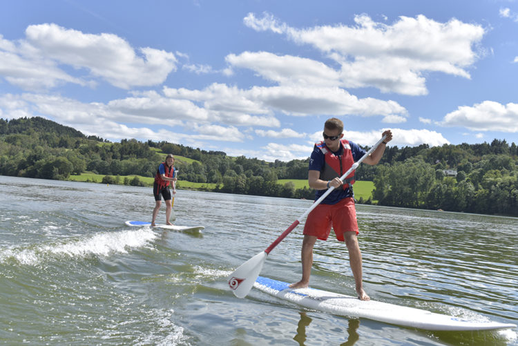 Paddle sur le lac d'Aydat - Henri Derus