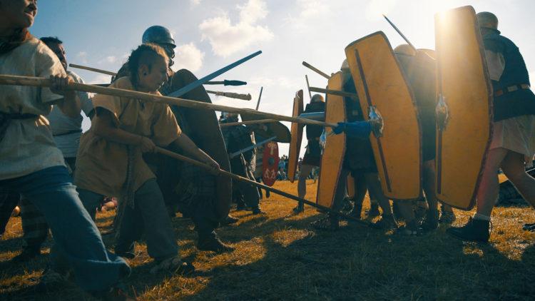 Bataille lors des Arverniales sur le plateau de Gergovie - CANOPEE