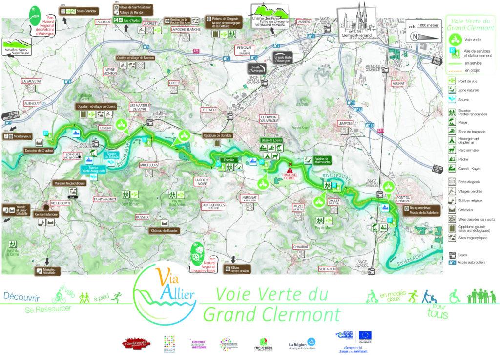 Via Allier tourisme Voie verte du Grand Clermont